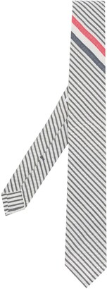 Thom Browne Striped Point Tip Tie
