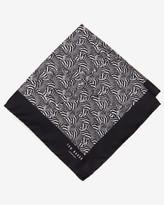 Ted Baker Zebra Print Pocket Square Black