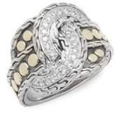John Hardy Diamond, 14K Yellow Gold & Silver Ring