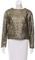 Suno Metallic Embroidered Top
