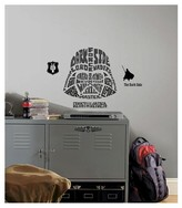 Star Wars RoomMates Typographic Darth Vadar Peel and Stick Giant Wall Decals