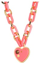 Marc by Marc Jacobs Small Heart Charm Necklace (Fluoro Pink) - Jewelry