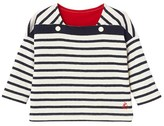 Petit Bateau Babys unisex long-sleeved striped double knit tee