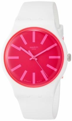 Swatch Women's Quartz Watch with Silicone Strap