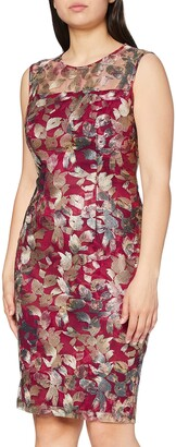 Gina Bacconi Women's Leaf Embroidered Dress Cocktail