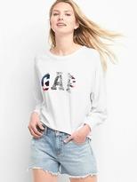 Gap Softspun logo raglan sweatshirt