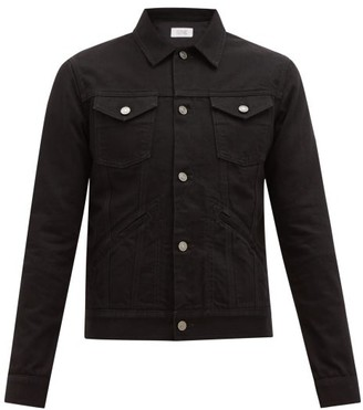 Givenchy Logo-embroidered Denim Jacket - Black