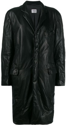 Giorgio Armani Pre-Owned 1990's Crinkled Effect Coat