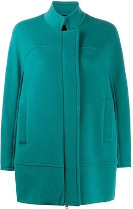 Alberto Biani High-Neck Straight Fit Coat