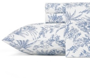 Tommy Bahama Home Tommy Bahama Pen and Ink Palm Queen Sheet Set