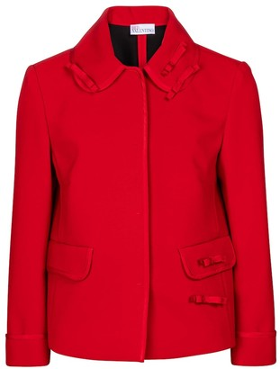 RED Valentino stretch-cady jacket
