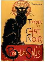 Art.com Tournée du Chat Noir, c.1896 Art Print By Théophile Alexandre Steinlen - 46x61 cm