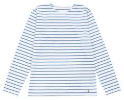 Armor Lux Blanc & Moody Blue Long Sleeve Sailor Shirt - M - Blue/White