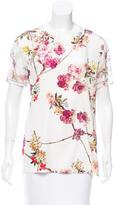 Giambattista Valli Silk Floral Print Top