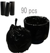 Lispower Durable Office Garbage Bags Home Trash Bags 5 Gallons 90 Counts (90 count- Black)