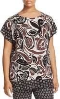 Marina Rinaldi Adornare Pattern Block Knit Tunic