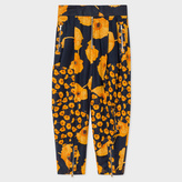 Paul Smith Women's Navy 'Poppy Chain' Sheer Silk Harem Trousers