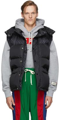 Gucci Black Down GG Vest