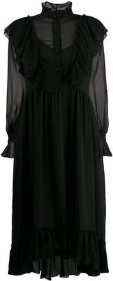See by Chloe Long-Sleeve Flared Dress