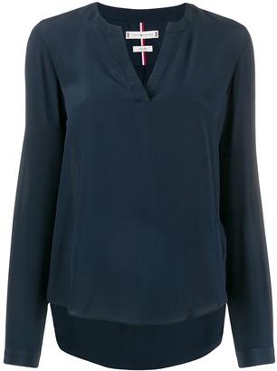 Tommy Hilfiger v-neck silk blouse
