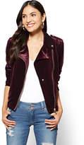 New York & Co. Velvet Moto Jacket