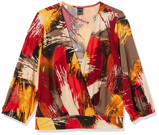 Forever 21 Women's Plus Size Abstract Print Top