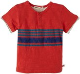 Appaman Stripe Slub Henley (Baby) - Washed Red-18-24M