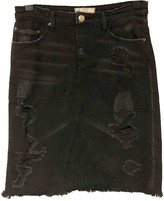 Free People Black Denim - Jeans Skirts