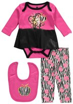"Apple Bottoms Baby Girls' ""Zebra Cool"" 3-Piece Outfit"