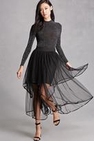 Forever 21 FOREVER 21+ Layered Mesh Midi Skirt