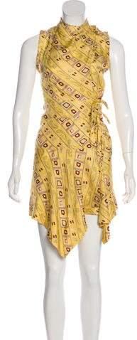 Isabel Marant Silk Abstract Print Mini Dress