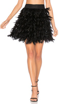Alice + Olivia Cina Feather Mini Skirt