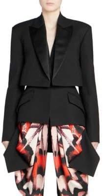 Alexander McQueen Women's Scarf Drape Tuxedo Jacket - Black - Size 42 (6)