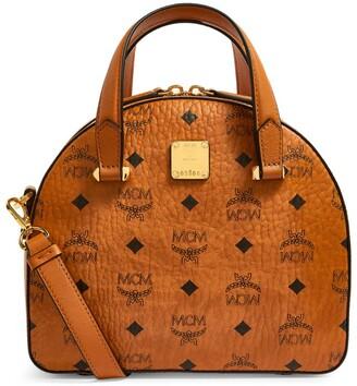 MCM Visetos Top-Handle Bag