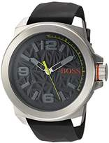 HUGO BOSS BOSS Orange Men's Quartz Stainless Steel and Silicone Casual Watch
