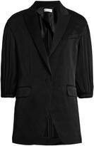 Sonia Rykiel Puff-sleeve satin-crepe jacket