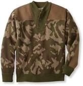 L.L. Bean Commando Sweater, Camouflage Henley