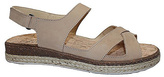 La Plume Beige Leather Oak Sandal