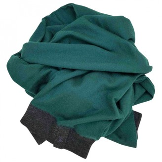 Louis Vuitton Green Cashmere Scarves