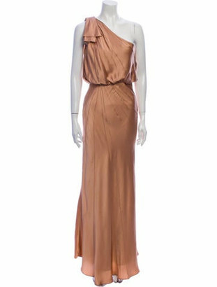 J. Mendel One-Shoulder Long Dress