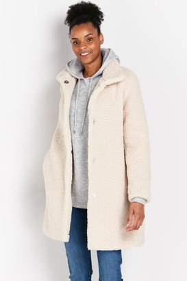 Wallis Cream Longline Teddy Coat