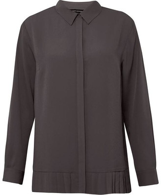 French Connection Crepe Light Pleated Top