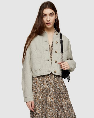 Topshop Quilted Jacket