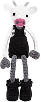 leggybuddy Mr. Bell Crocheted Cow Stuffed Animal, Black