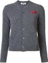 Comme des Garcons double heart cardigan - women - Wool - XS