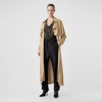 Burberry Cape Detail Jersey Trench Coat