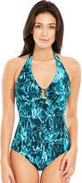 figleaves swimwear Deep Sea Soft Cup Halter Tummy Control Swimsuit
