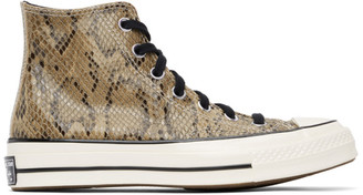 Converse Brown Snake Chuck 70 High Sneakers