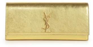 Saint Laurent Cassandre Evening Clutch Metallic Gold