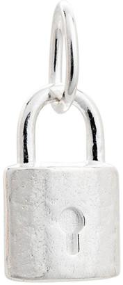 Mocha Petite Lock Charm w/ Sterling Silver